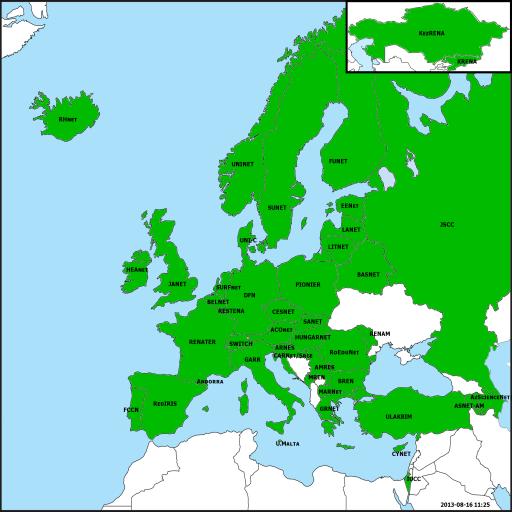 Eduroam map